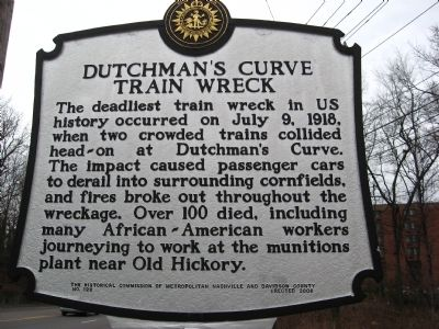Dutchman's Curve Train Wreck Marker image. Click for full size.