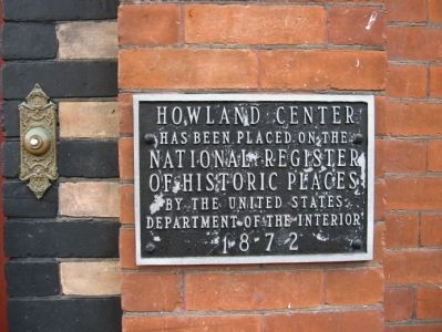 Howland Center Marker image. Click for full size.