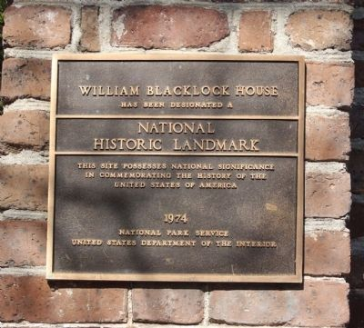 William Blacklock House Marker image. Click for full size.