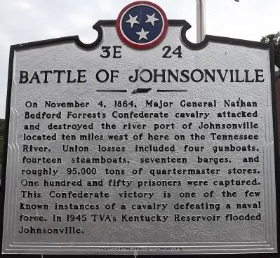 Battle of Johnsonville Marker image. Click for full size.