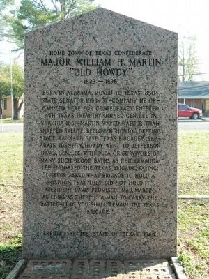 Henderson County/Home Town of Texas Confederate Marker image. Click for full size.