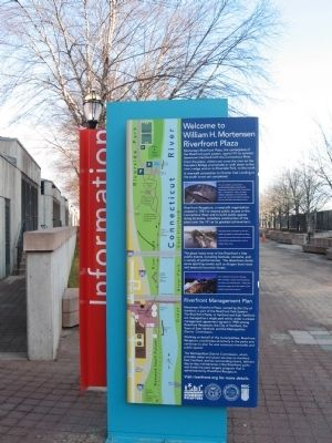 William H. Mortensen Riverfront Plaza Marker image. Click for full size.