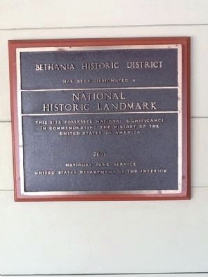 Bethania District Historic Landmark marker image. Click for full size.
