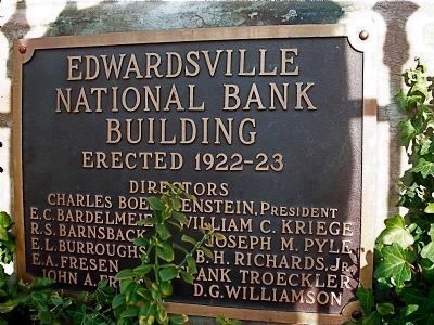 Edwardsville National Bank Building image. Click for full size.