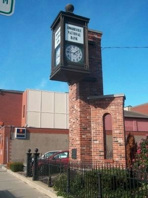 Edwardsville National Bank Clock Marker image. Click for full size.