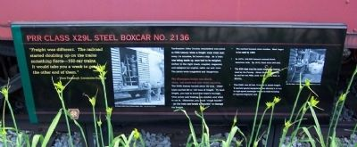 PRR Class X29L Steel Boxcar No. 2136 Marker image. Click for full size.