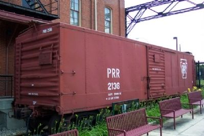 PRR Class X29L Steel Boxcar No. 2136 and Marker image. Click for full size.