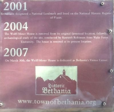 Bethania history display image. Click for full size.