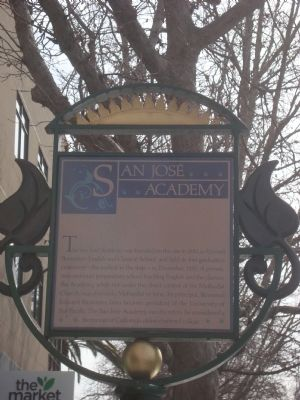 San José Academy Marker image. Click for full size.