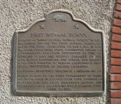 First Normal School Marker image. Click for full size.