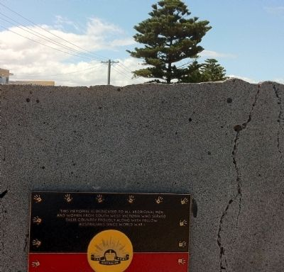 Aboriginal Soldiers Marker image. Click for full size.