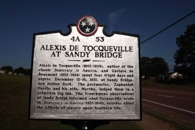 Alexis de Tocqueville At Sandy Bridge Marker image. Click for full size.