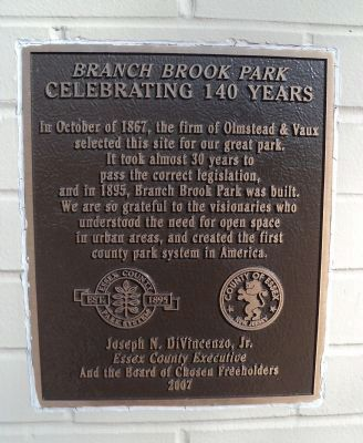 Branch Brook Park Marker image. Click for full size.