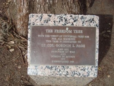 The Freedom Tree Marker image. Click for full size.