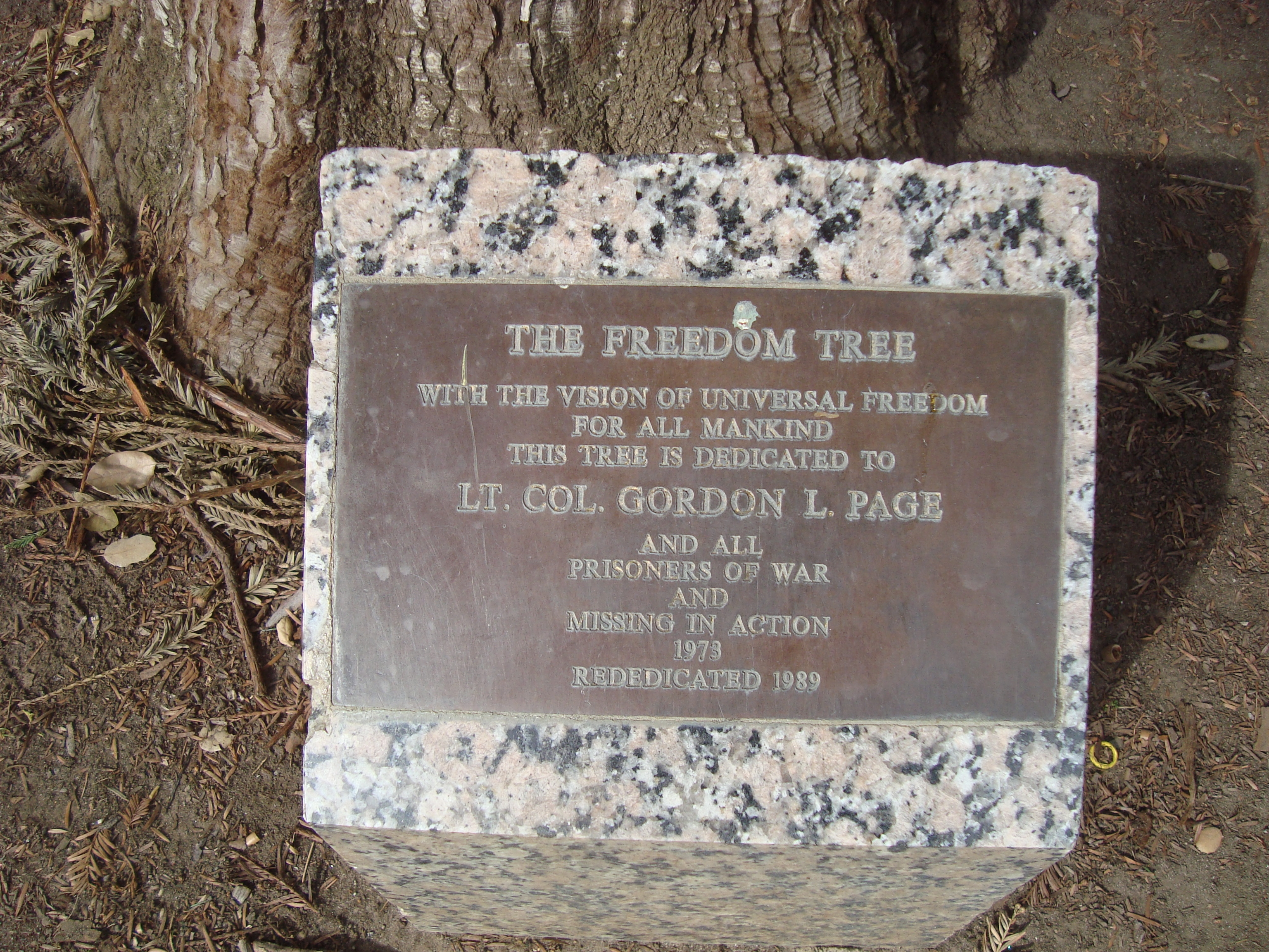 The Freedom Tree Marker