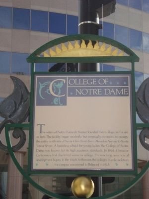 College of Notre Dame Marker image. Click for full size.