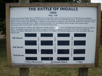 The Battle of Ingalls Marker image. Click for full size.