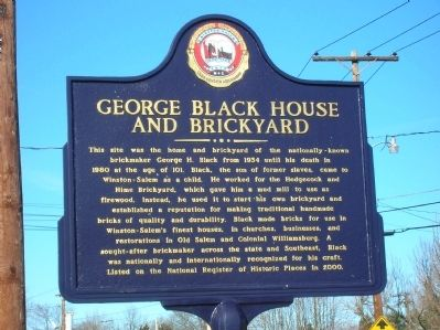 George Black House and Brickyard Marker image. Click for full size.