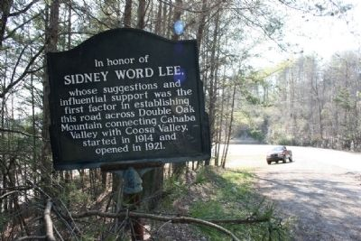 The original Sidney Word Lee Marker that was replaced by the current marker. image. Click for full size.