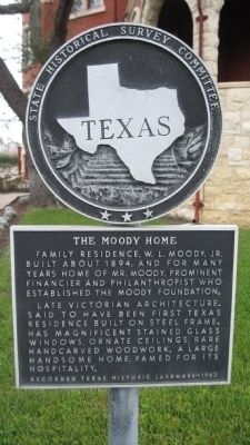 The Moody Home Marker image. Click for full size.
