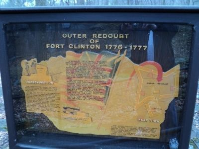 Outer Redoubt of Fort Clinton Marker image. Click for full size.