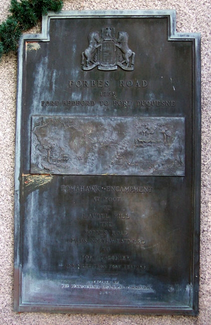 Forbes Road Plaque