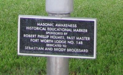 Masonic Awareness Historical Educational Marker image. Click for full size.