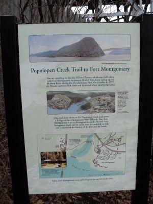 Popolopen Creek Trail to Fort Montgomery Marker image. Click for full size.