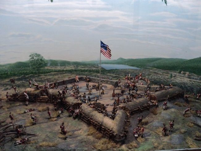 Attack on the West Redoubt of Fort Clinton image. Click for full size.