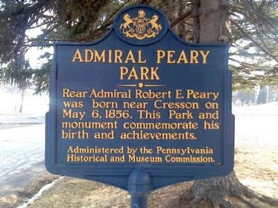 Admiral Peary Park Marker image. Click for full size.