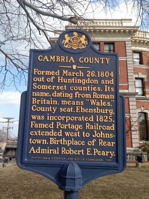 Cambria County Marker image. Click for full size.