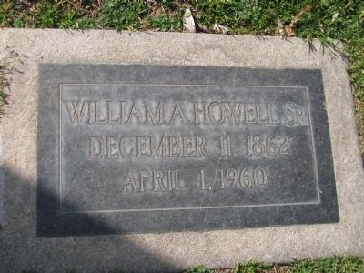 William A. Howell Sr. 1862-1960 image. Click for full size.