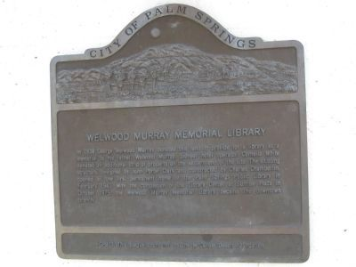 Welwood Murray Memorial Library Marker image. Click for full size.