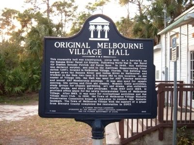 Original Melbourne Village Hall Marker image. Click for full size.