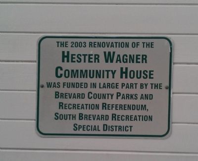 Hester Wagner Community House image. Click for full size.