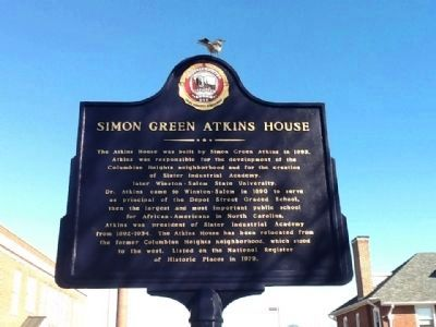 Simon Green Atkins House Marker image. Click for full size.