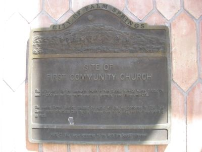 Site of First Community Church Marker image. Click for full size.