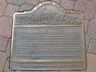 Oasis Hotel Marker image. Click for full size.