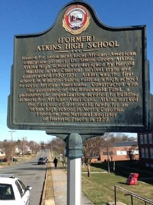 (Former) Atkins High School Marker image. Click for full size.