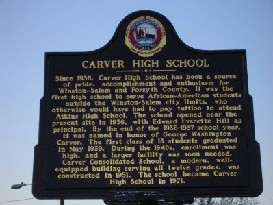 Carver High School Marker image. Click for full size.