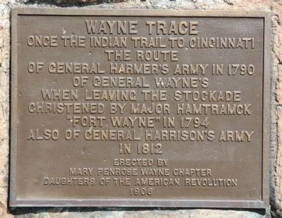 Wayne Trace Marker image. Click for full size.