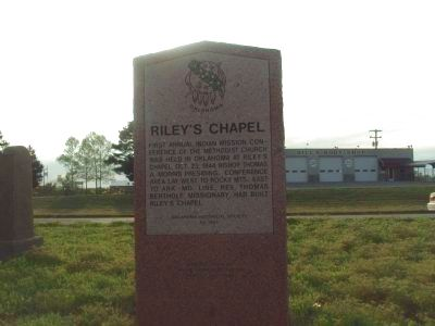 Riley's Chapel Marker image. Click for full size.