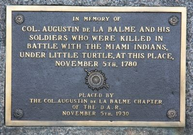 La Balme Massacre Site Marker image. Click for full size.