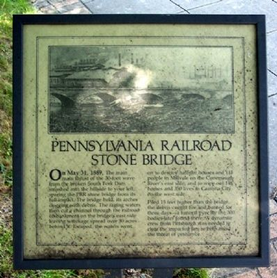 Pennsylvania Railroad Stone Bridge Marker image. Click for full size.