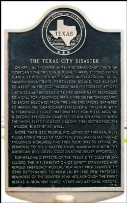 The Texas City Disaster Marker image. Click for full size.