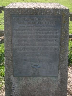 The Bernal Adobe Site and Bear Tree Marker image. Click for full size.