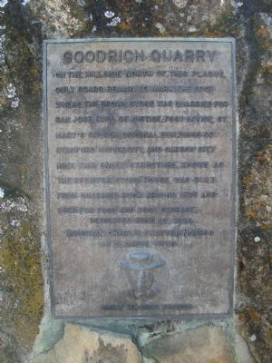 Goodrich Quarry Marker image. Click for full size.