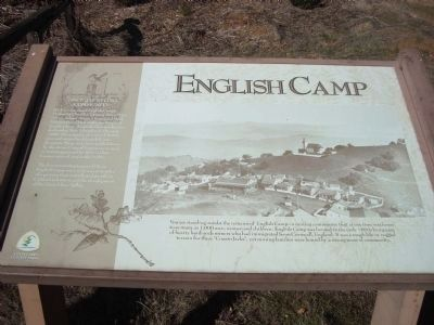 English Camp Marker image. Click for full size.