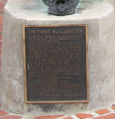 The First Bulldogger Marker image. Click for full size.