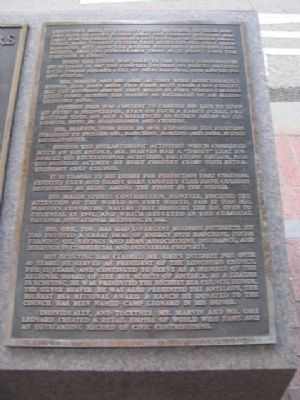 Leonard Brothers Department Store Marker (right side) image. Click for full size.